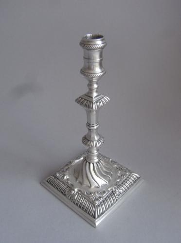 A very unusual early George III Cast Taperstick made in London in 1763 by Ebenezer Coker