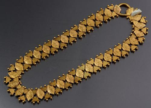 Victorian 15ct gold collar necklace