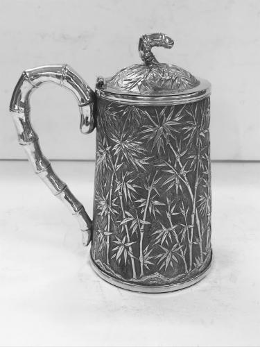 Chinese Export Silver Covered Mug