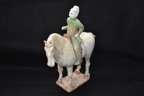 Sculpture of a Foreign Horse Rider, Tang Dynasty (AD 618-907)