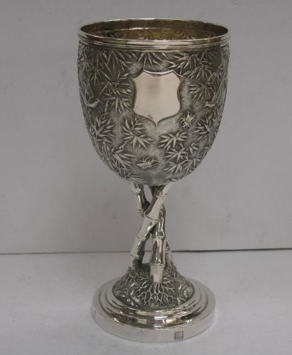 Chinese Export Silver Goblet