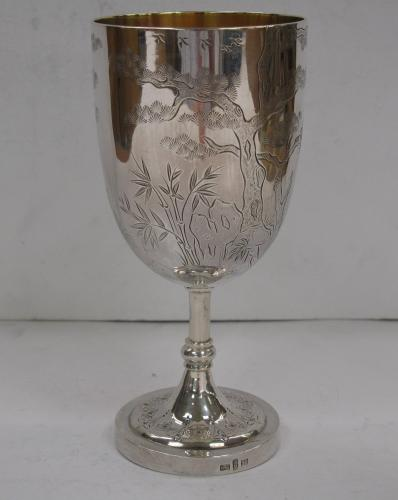 Chinese Export Silver Goblet (China, c. 1890)