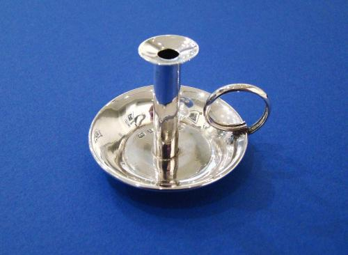 Victorian Silver 'Go-To-Bed' Miniature Chamberstick