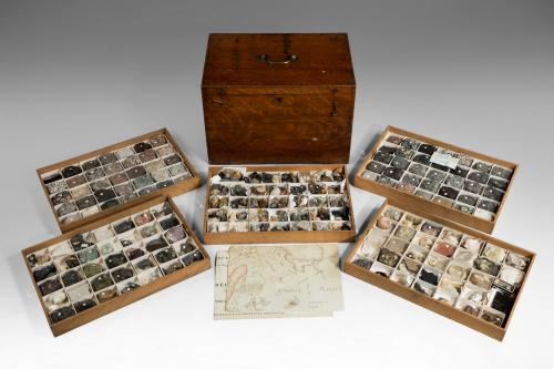 496a Collection of Geological Specimens in an Oak Box