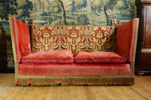A Good Upholstered Knole Settee