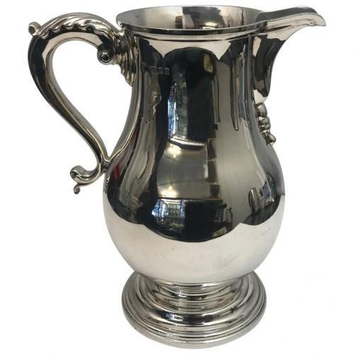Large Antique Silver Beer Jug