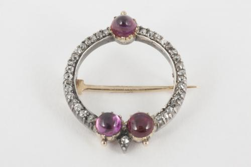 Carlo & Arthur Giuliano Ruby & Diamond Antique Brooch, English circa 1895