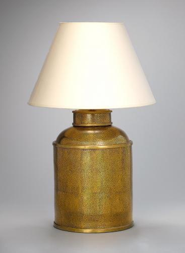 Gold Shagreen Tea Cannister Lamps