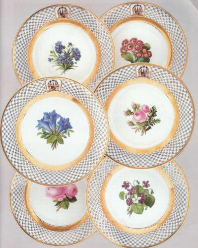 Holstein Gottorp Family: A Set of Six Berlin Porcelain Plates