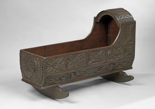 19th Century Oak Cradle
