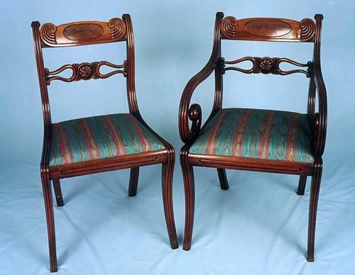 Eight Single Chairs, Early 19th Century