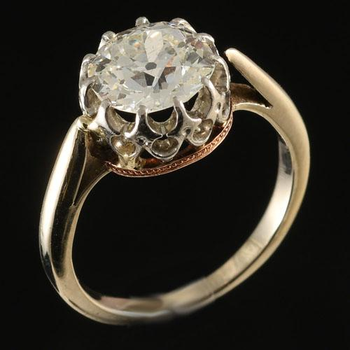 Single Stone Diamond Ring, Circa 1890