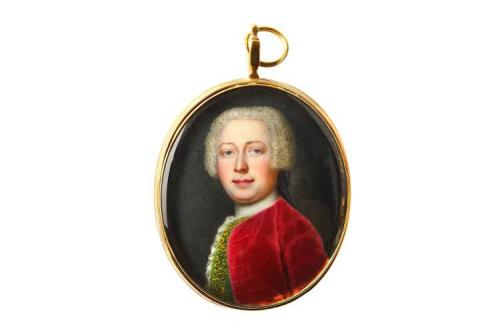 An 18th Century Portrait Miniature Of A Gentleman, Painted In Enamel, Attributed to Jean-Etienne Liotard