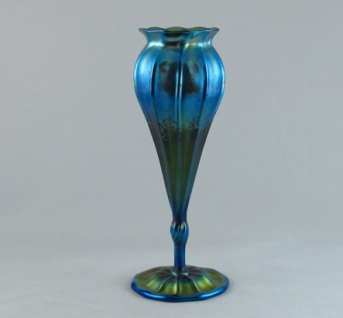 Art Nouveau Tiffany Favrile footed stemmed floriform vase