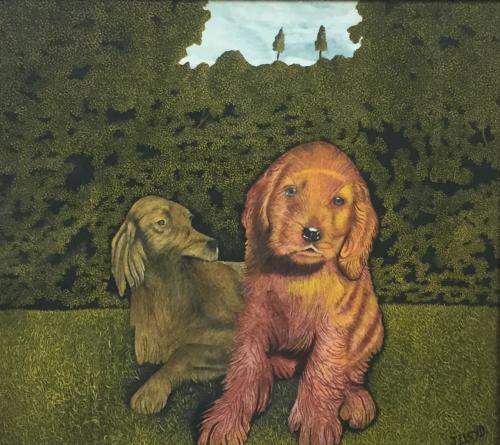Two Dogs, James Lloyd (1905-1974)