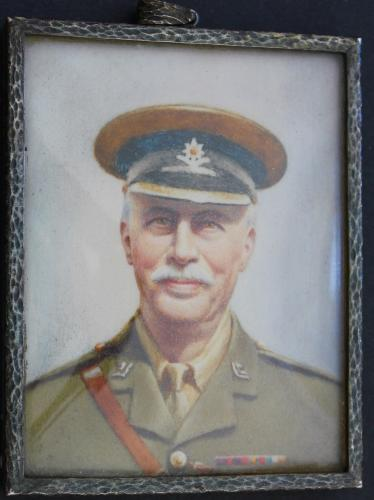 A Portrait Miniatuer Of Major William Frederick James Hardisty MBE, (1858-1924) The East Surrey Regiment, By Margaret Hardisty