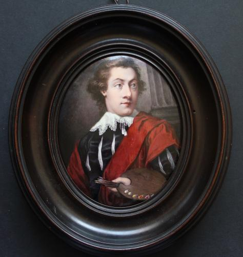 An Artist Believed To Be A Self Portrait By John Howes (Fl 1770-1793)