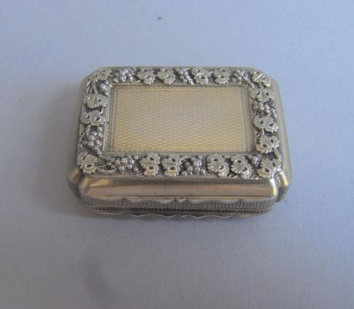 An exceptionally fine George III Silver Gilt Vinaigrette made in Birmingham in 1816 by Matthew Linwood