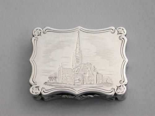 Victorian Silver Castle-Top Vinaigrette - Norwich Cathedral