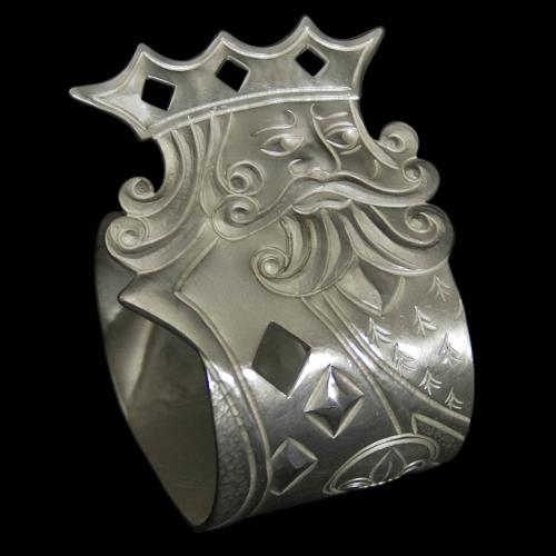 New Silver 'King of Diamonds' Napkin Ring