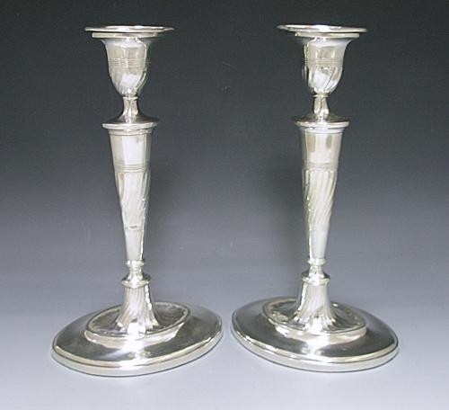 A Pair of George III Antique Silver Candlesticks