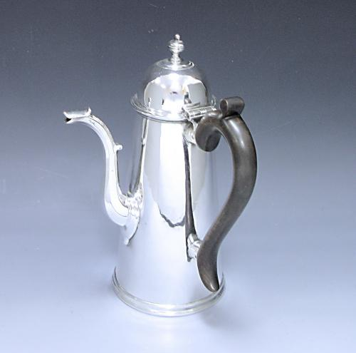 Antique Silver Side Handled Chocolate Pot