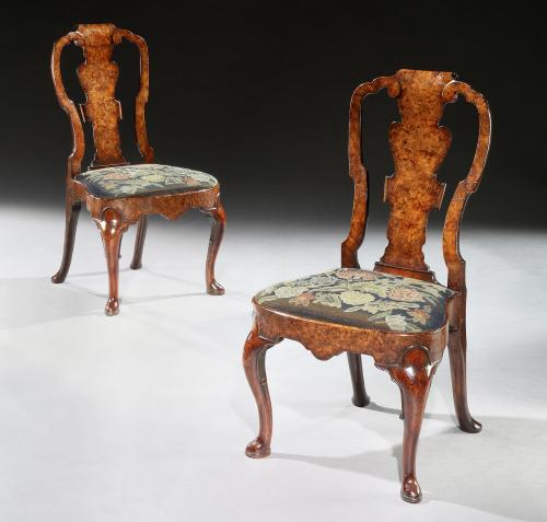 Giles Grendey: A Pair of George II Walnut Side Chairs