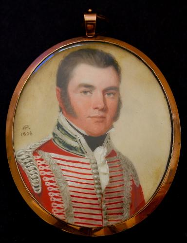 A Regency Portrait Miniature Of Captain James Grant Wearing The Uniform Of The HEIC, Andrew Robertson, 1806