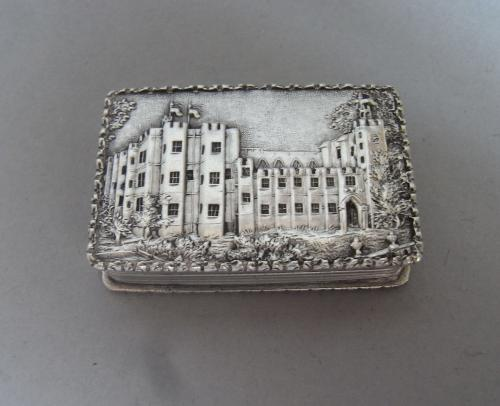 Kenilworth Castle Nathaniel Mills. An extremely fine Castle Top Vinaigrette made in Birmingham in 1837