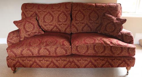 Pair of sofa's or settess, 3-Seater, 1988, Parker & Farr, Howard-Style