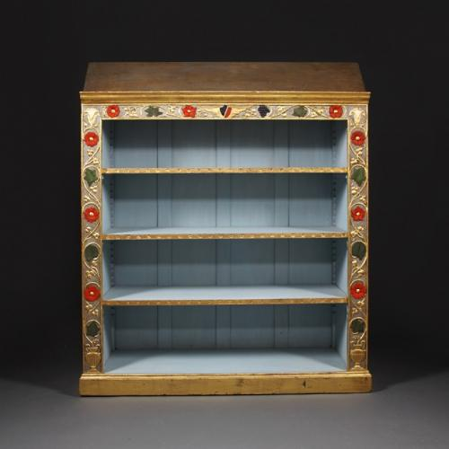 An Arts and Crafts style bookshelf