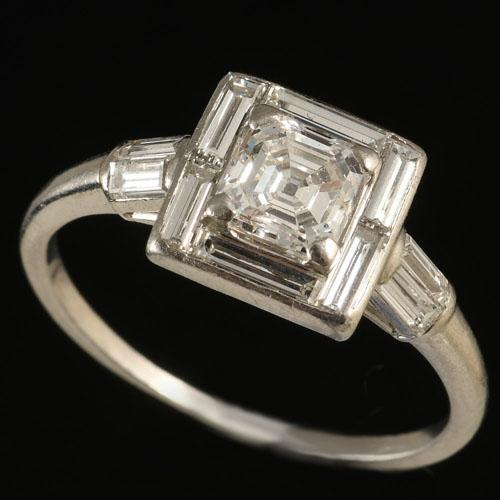Art Deco Platinum Ring, Circa 1920