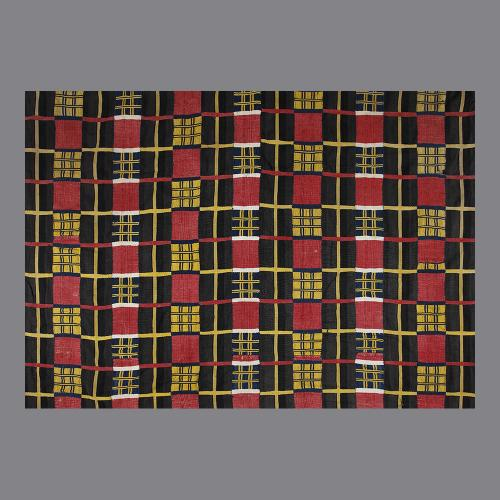 An early 20th century African Ewe Cloth in reds and blacks