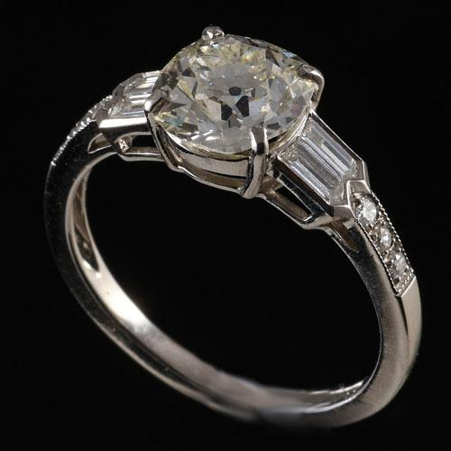 Cushion Cut 1.75ct Diamond Ring
