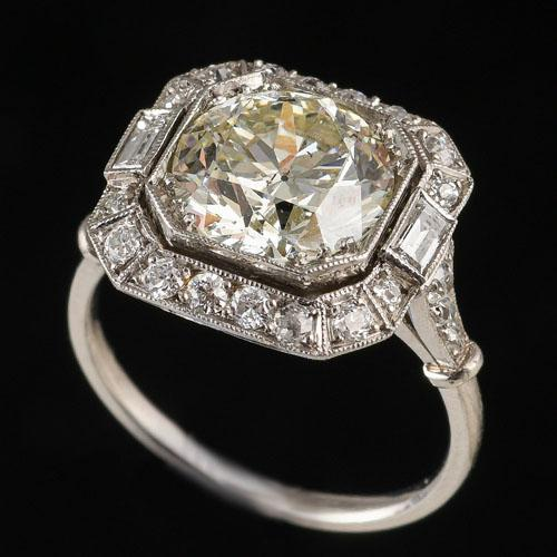 Platinum Set Diamond Cluster Ring