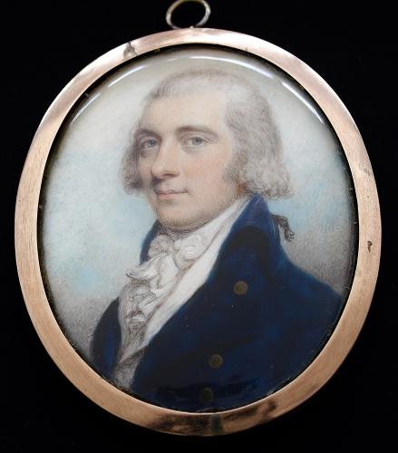An 18th Century Portrait Miniature Of John David Hay Hill, Lord Of The Manor Of Gressenhall, Norfolk, by Philip Jean circa 1790