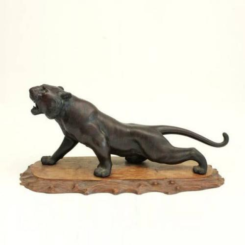 19th Century Meiji Period Bronze Tiger