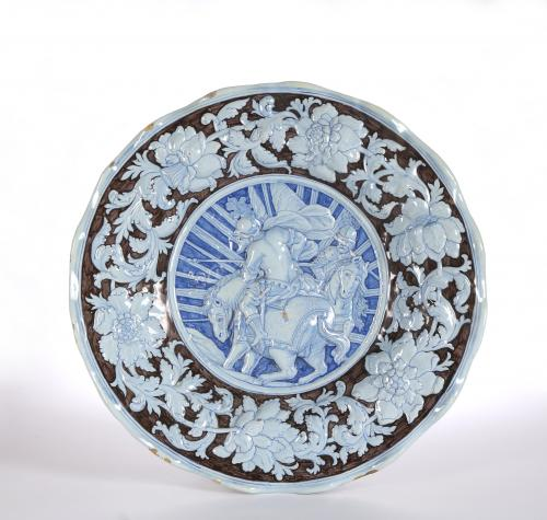 A Large Pavia Faience Charger