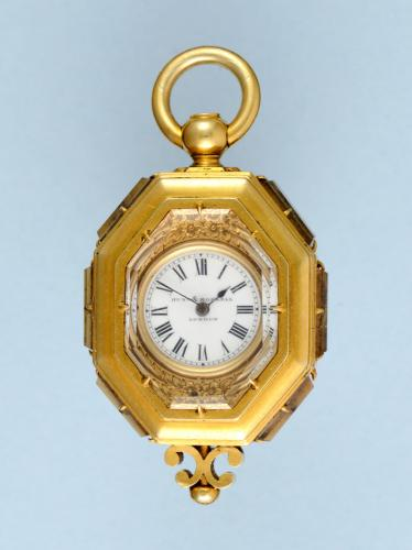 Gold English Pendant Watch