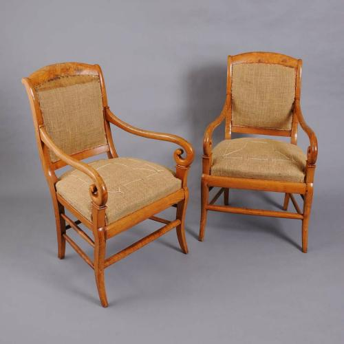 A pair of Fruit Wood Armchairs