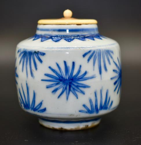Tianqi Period Blue and White Tea Caddy