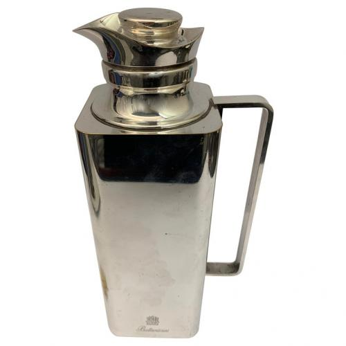Square Silver Plated Ballentines Thermos Jug