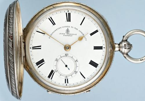Large Fusee Silver Hunter