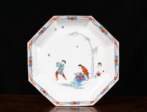 A Large Meissen Octagonal 'Shiba Onko' Dish of the Largest Size