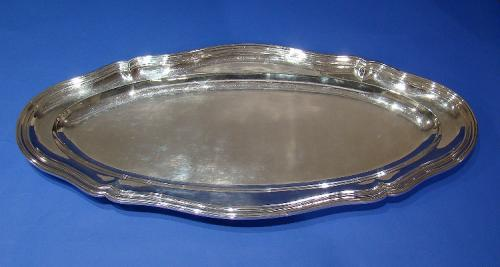 German .800 Standard Silver Large Serving Dish/Tray/Platter