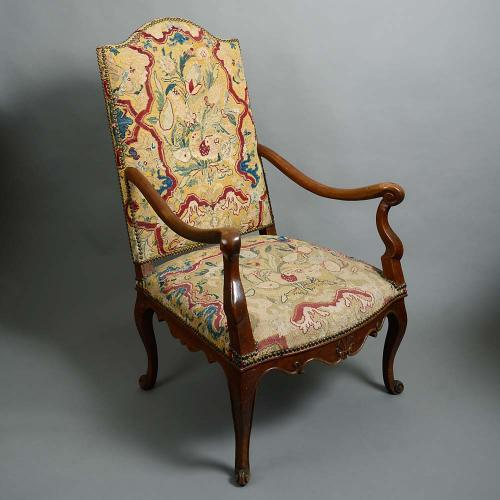An early 18th century French armchair