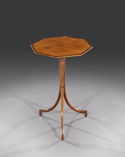 George III 18th Century Period West Indian Satinwood Inlaid Occasional Octagonal Table