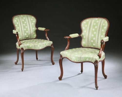 John Cobb: A Pair of George III Mahogany Armchairs