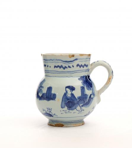 An English Delft Blue and White Small Mug