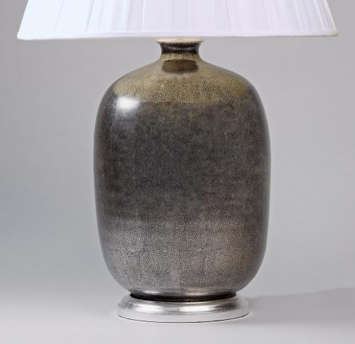 Silver 'Shagreen' Lamps